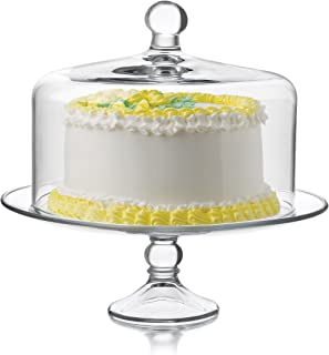 Libbey Selene Cake Dome 2-Piece Set Clear  sc 1 st  Amazon.com : cake plates with dome lids - pezcame.com