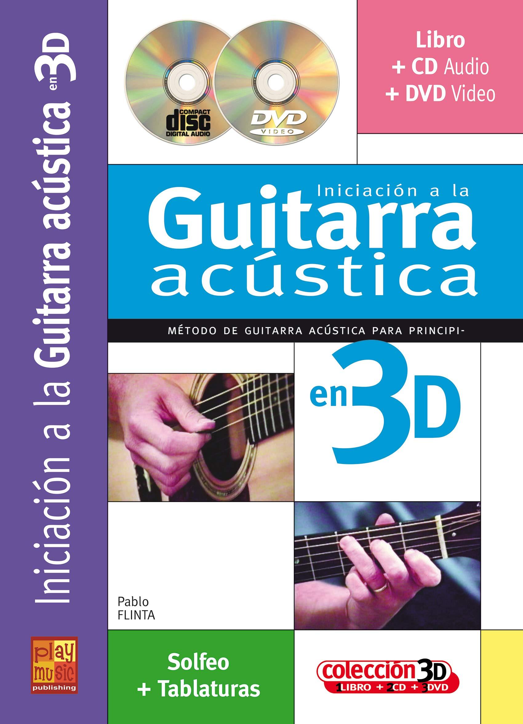 Iniciacion a la guitarra acústica en 3D - 1 Libro + 1 CD + 1 DVD ...