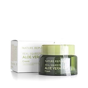 Nature Republic Real Squeeze Aloe Vera Cream, 50 Gram