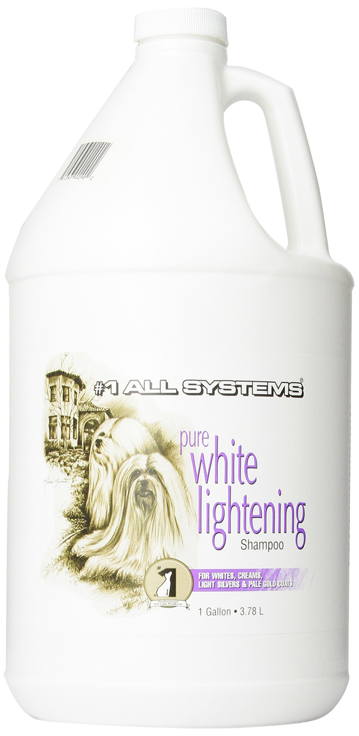 #1 All Systems Pure White Lightening Pet Shampoo, 1-Gallon by #1 All Systems