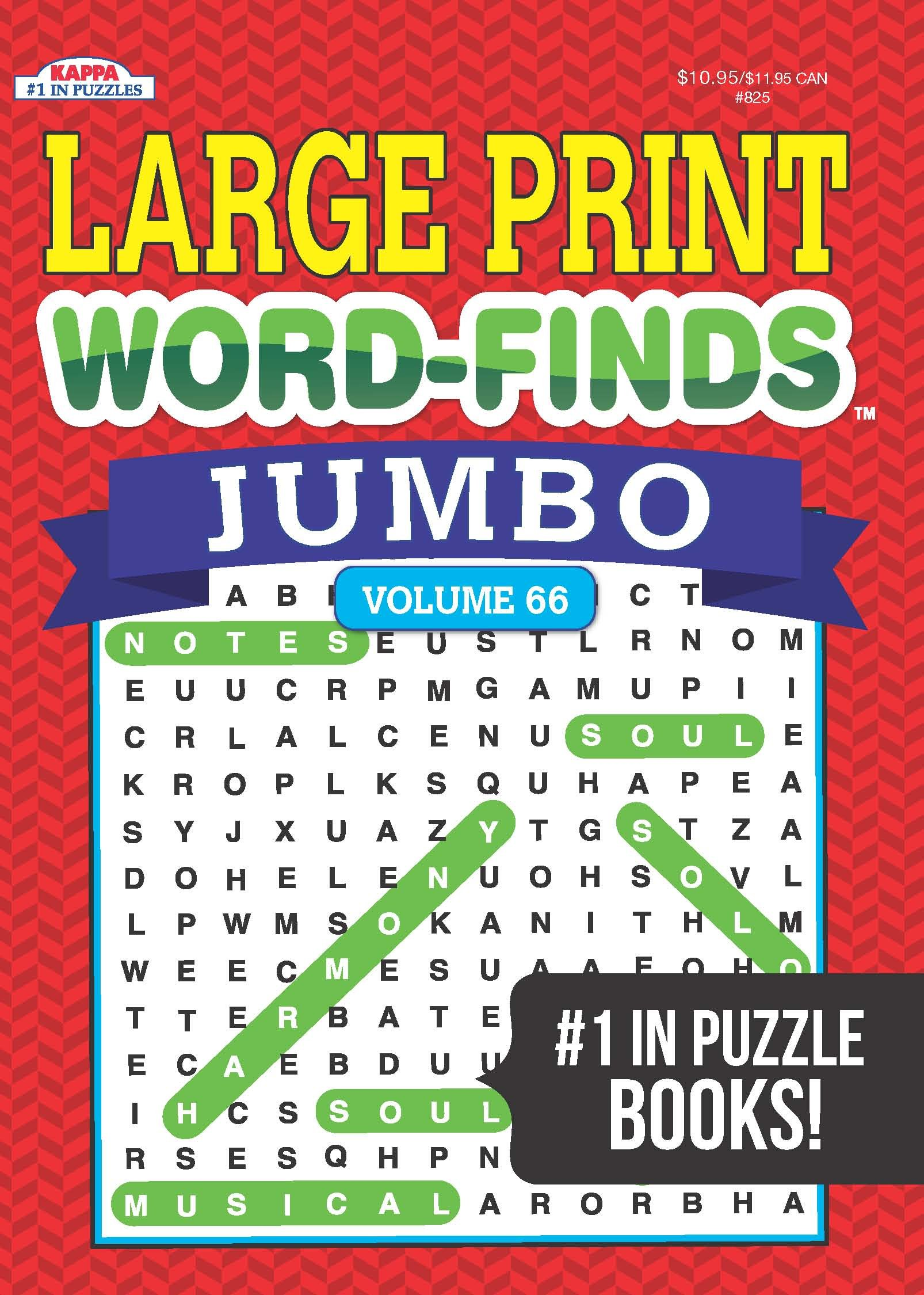 Jumbo Word Finds Puzzle Book Word Search product image