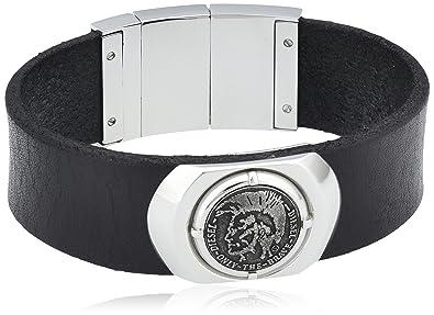 Lederarmband herren diesel  Diesel Herren-Armband Leder 45 cm - DX0799040: Amazon.de: Schmuck