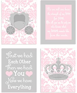The Kids Room by Stupell Little Princess Floral Border With Castle Oval Wall Plaque Proudly Made in USA brp-523 10 x 0.5 x 15