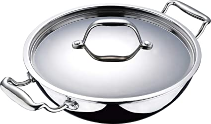 Buy Bergner Argent Stainless Steel Wok With Lid 20cm Online At Low