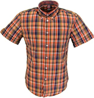 Warrior Cook red check 100/% cotton classic button down shirt size small-5XL