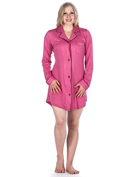 Womens Cool Knit Sleep Shirt - Pindots Fuchsia - Medium  Amazon.ca ... 31d186dad