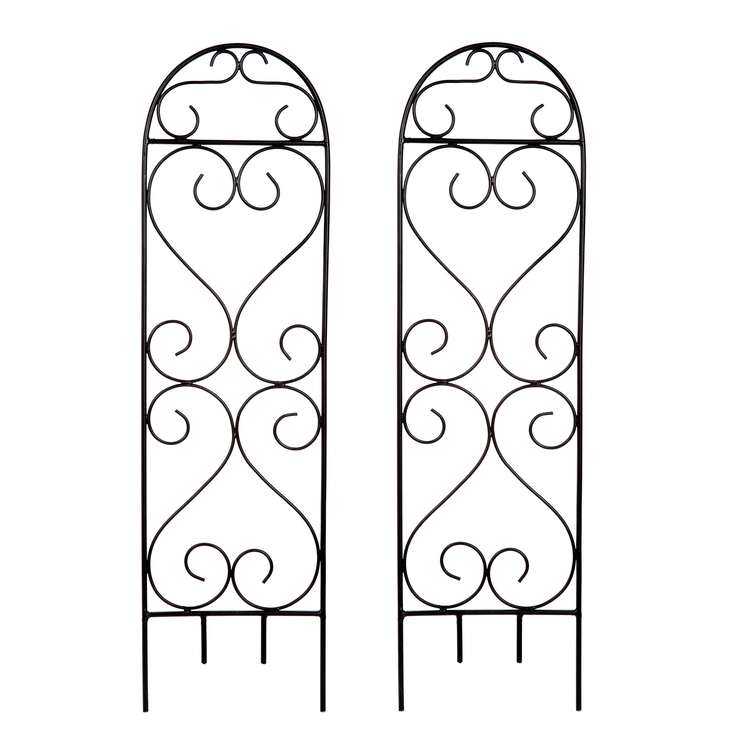 Hosley's Set of 2 Scroll Planter Trellis, 27'' High. Ideal Gift for Wedding or Party and Use next to Structures (home or office) or in Planters for Growing Floral, Plants, Vines and Vegetables O3