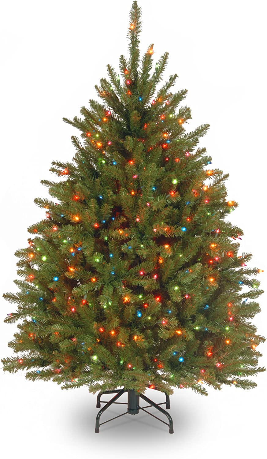 National Tree Company lit Artificial Christmas Tree Includes Pre-Strung Multi-Color Stand Dunhill Fir, 4.5 ft, Multicolored Lights