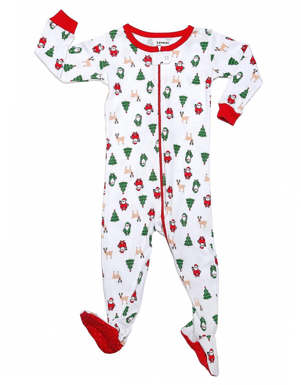 Amazon.com: Leveret Baby Boys Girls Christmas Footed Pajamas Sleeper ...