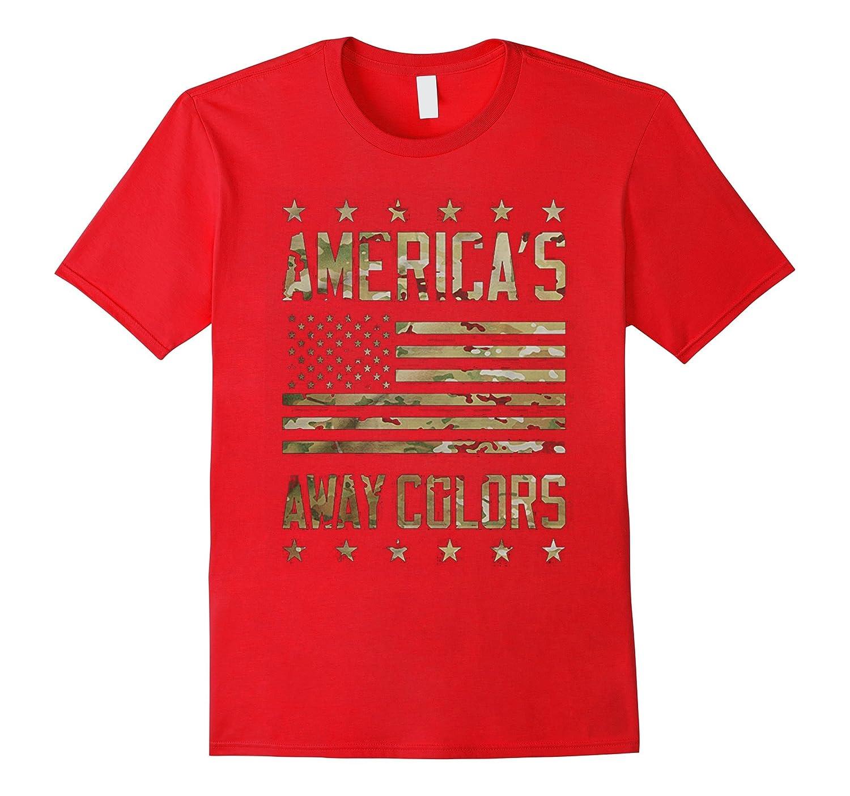 America's Away Colors Tshirt Patriotic Flag Camo Military