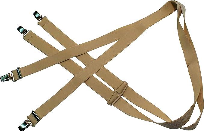 Hosenträger 4 Clip extra-Starke H Form in 3 Farben 120cm