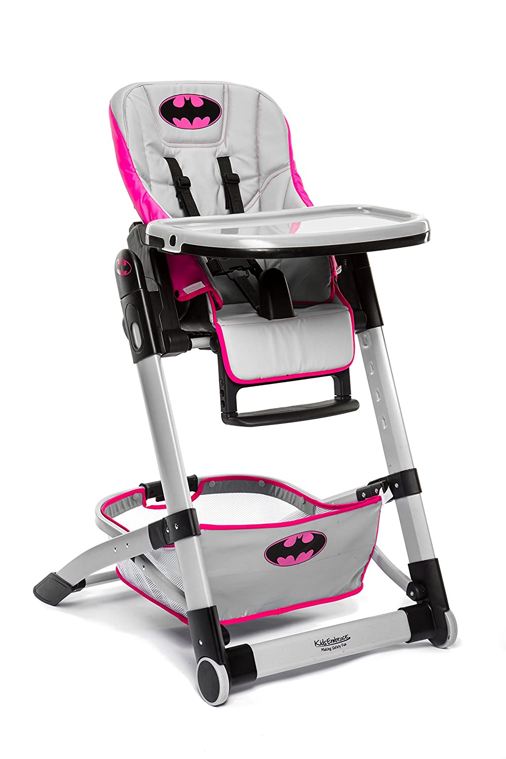 KidsEmbrace Batgirl Convertible High Chair, DC Comics Deluxe Adjustable High Chair, Gray, 6601BTG Kids Embrace Baby