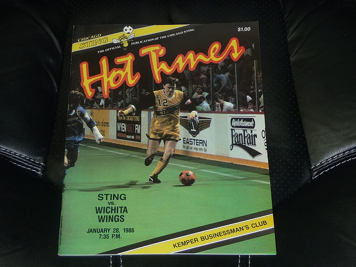 JAN 28, 1986 WICHITA WINGS AT CHICAGO STING MISL SOCCER PROGRAM NR MINT
