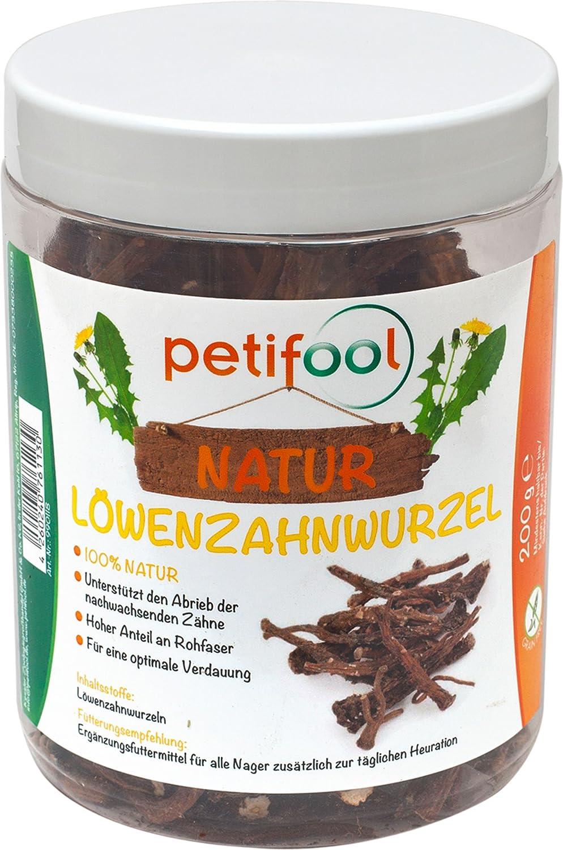 petifool Adolescente único Forro Diente de León Raíces, Naturales y Saludable Barf Comida de Animales, 1er Pack (1x 200g) dobar 990118