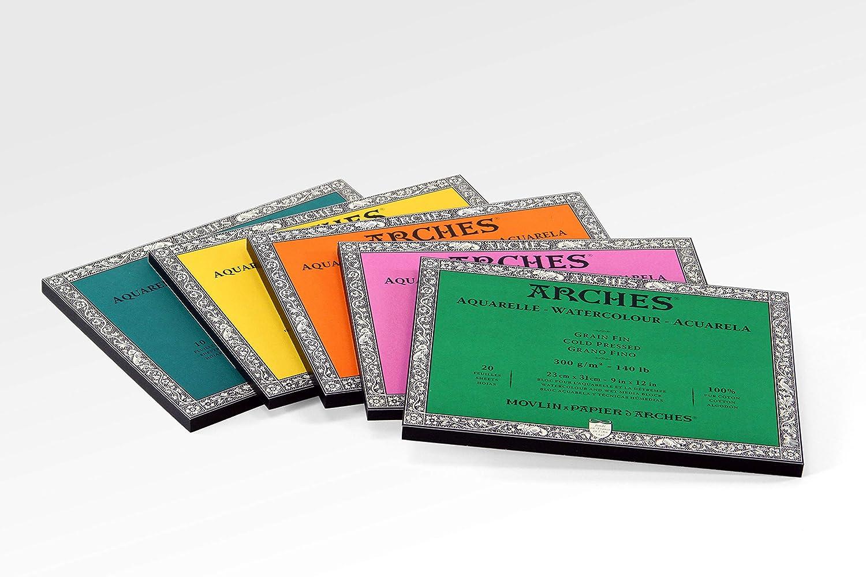 Cold Press 11 x 14 Arches Watercolor Paper Block 1711600 140 Pound