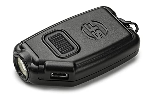 SureFire Sidekick 300-Lumen Ultra-Compact Triple-Output Keychain Light, Black