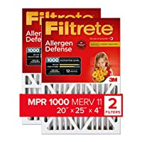 Filtrete 20x25x4, AC Furnace Air Filter, MPR 1000 DP, Micro Allergen Defense Deep...