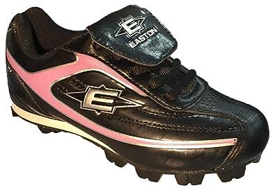 e10aef716948 Easton Girl's Baseball Softball Cleats 12 Redline II Low Black Pink (3 M US  Little