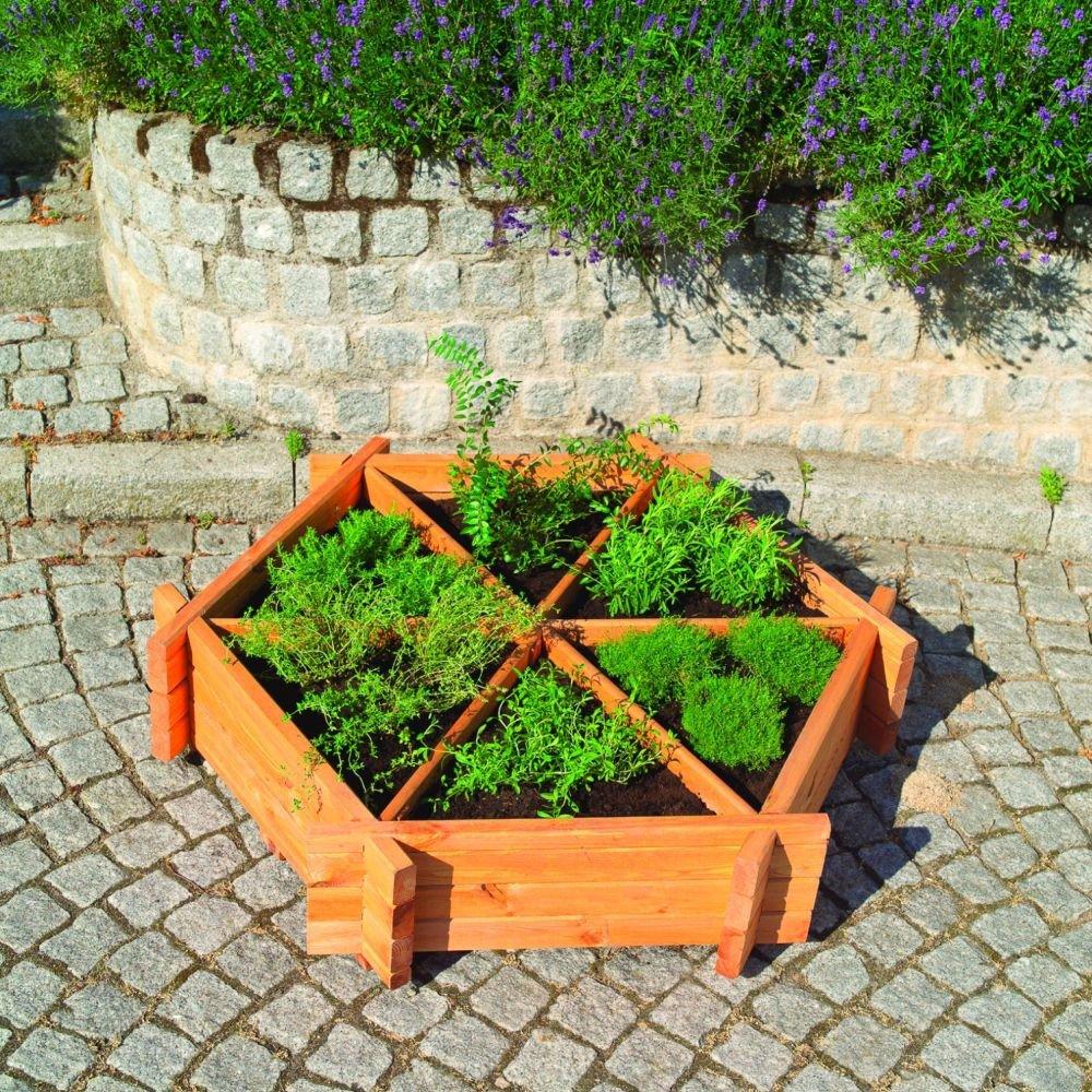 Grosses Kräuterrad Dekoratives Anzuchtbeet Holz imprägniert Garten