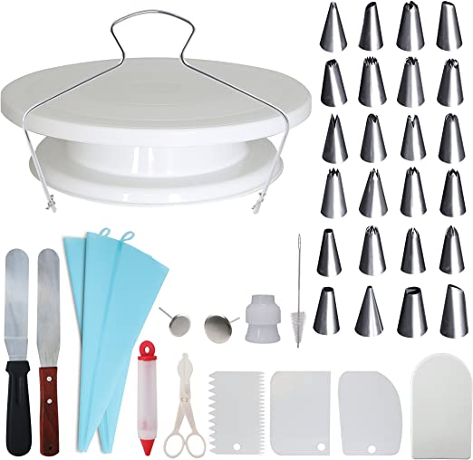 Icing Smoothers Best For Cake Decorating And Display Stainless Steel Icing Tips Spatula Homeries Cake Decorating Supplies Kit 36 Piece Set Turntable Sculpting Modeling Tools Decorating Tools