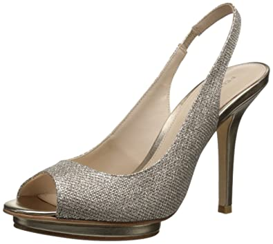 Pelle Moda Women's Rivka-MT Dress Pump, Platinum Gold, ...