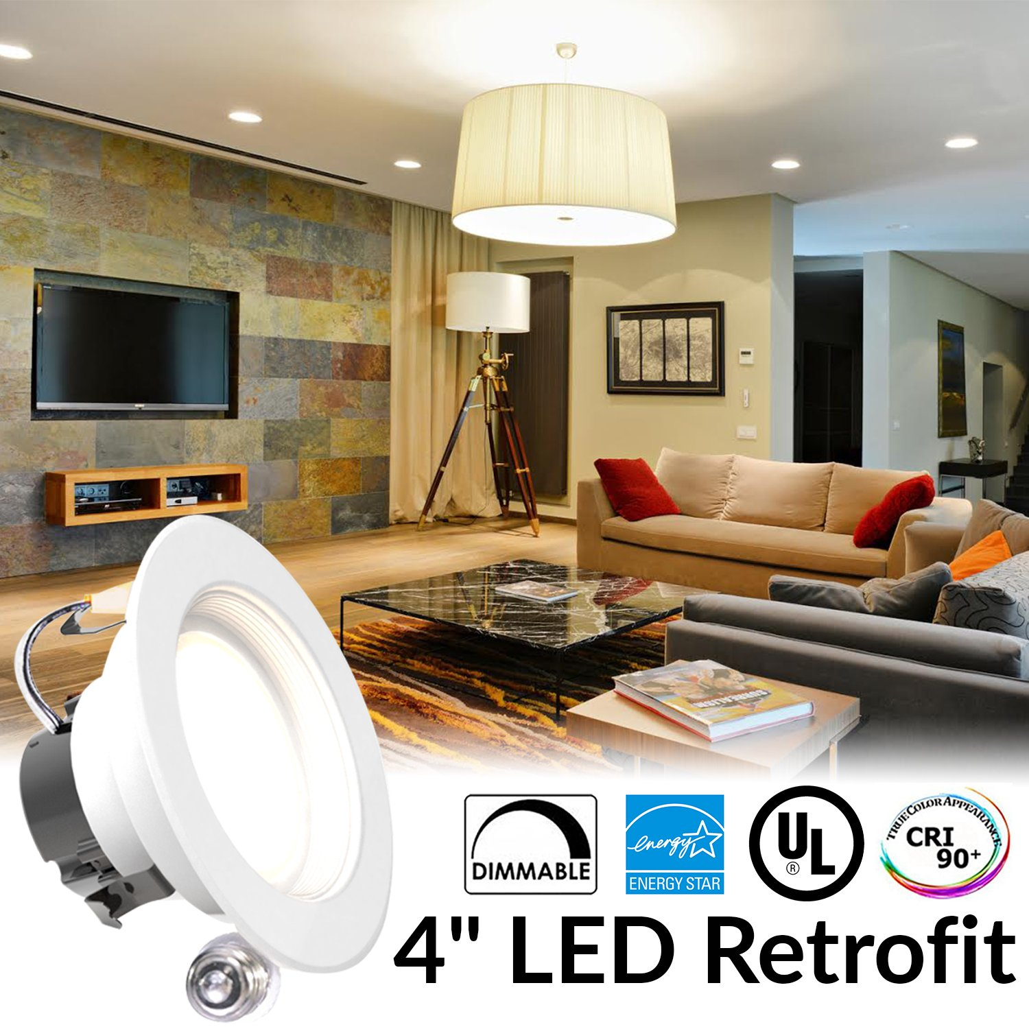 11watt 4 inch energy star ul listed dimmable led downlight