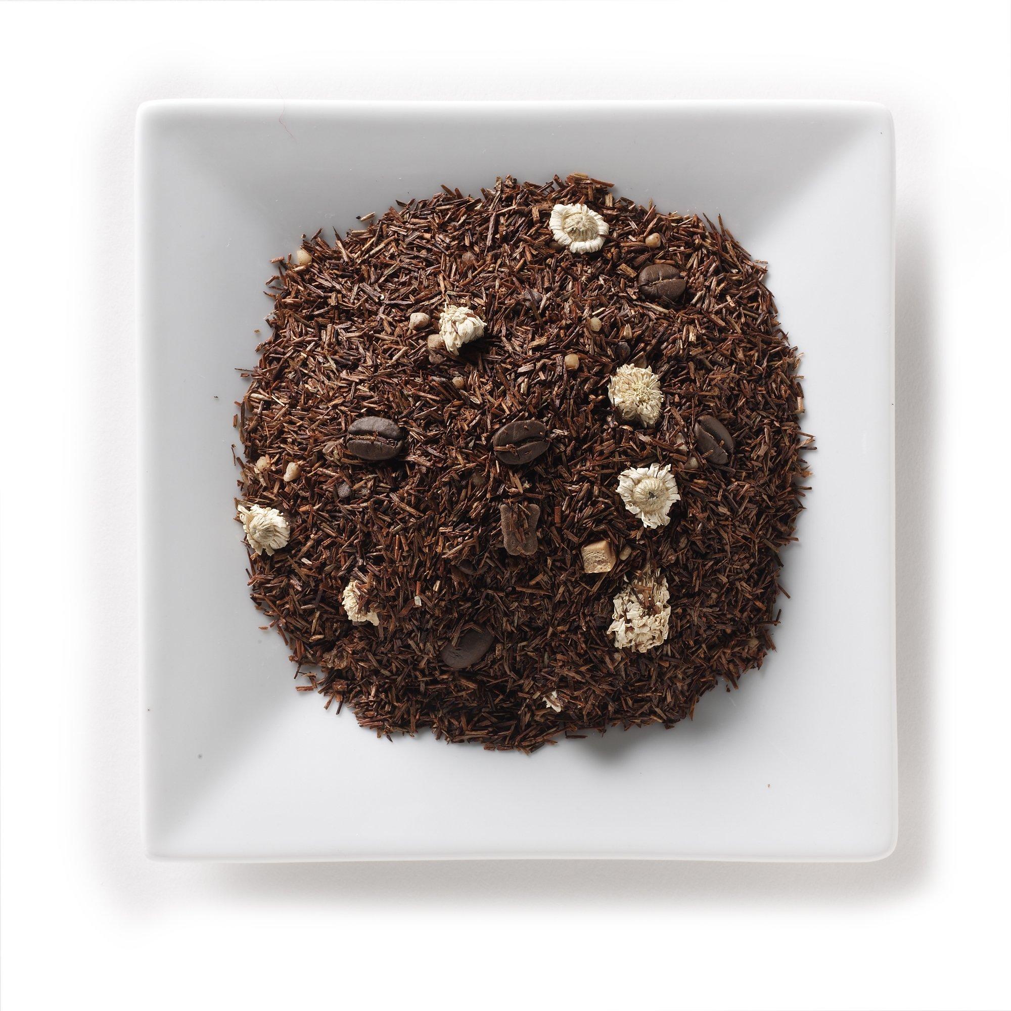 Mahamosa Tiramisu Rooibos Tea 2 oz, Loose Rooibos Herbal Tea Blend (with chocolate, coffee, caramel, yogurt) (dessert tea)