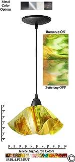 product image for Jezebel Signature JRBL-LP12-BUT Black Lily Pendant, Small, Buttercup