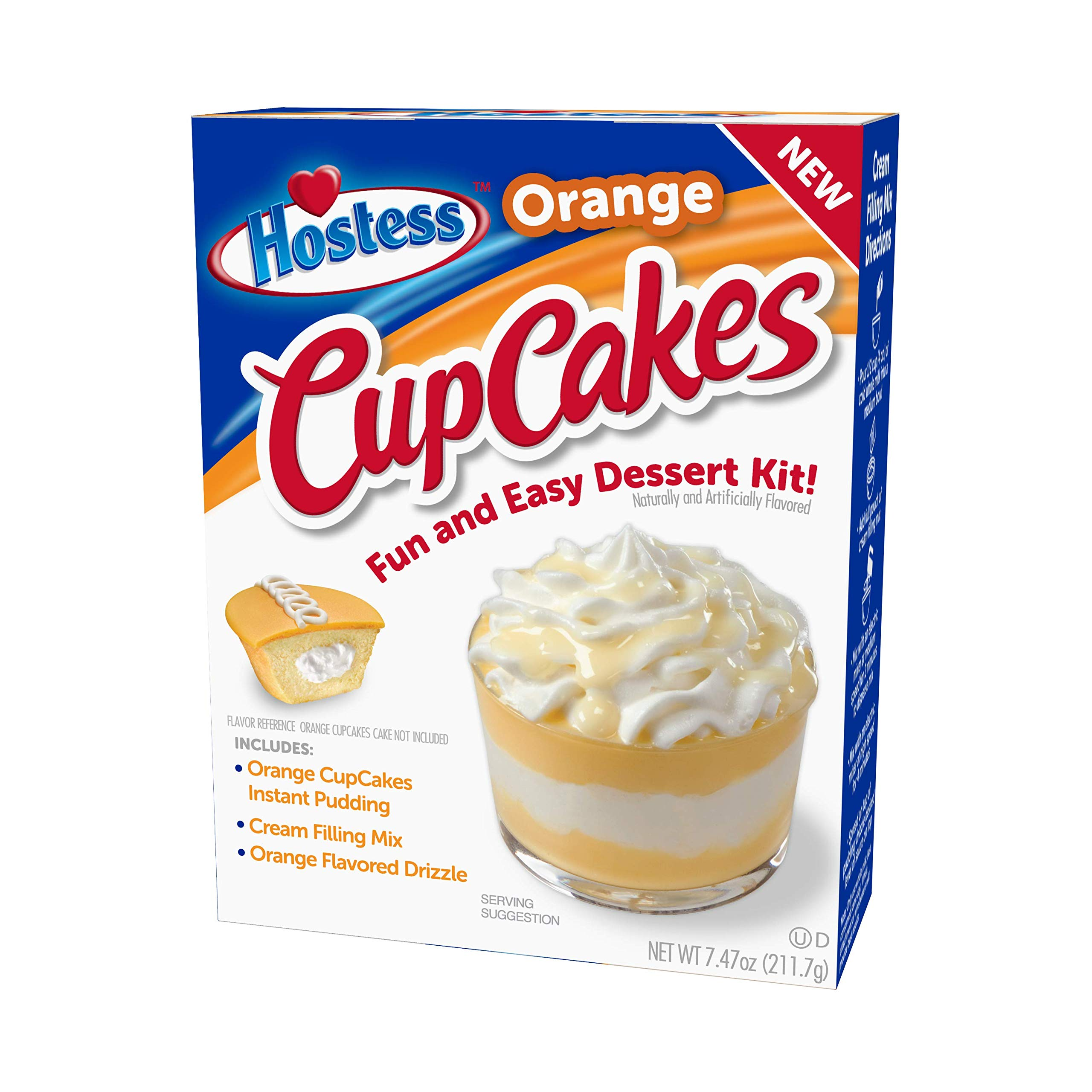 Hostess Orange Cupcakes Dessert Kit, 7.47 OZ, 6 CT (Orange CupCakes, Pack - 3) by Hostess