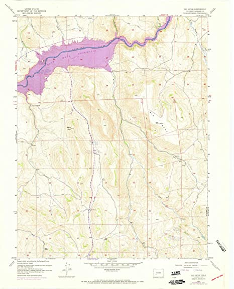 Amazon Com Yellowmaps Big Mesa Co Topo Map 1 24000 Scale 7 5 X