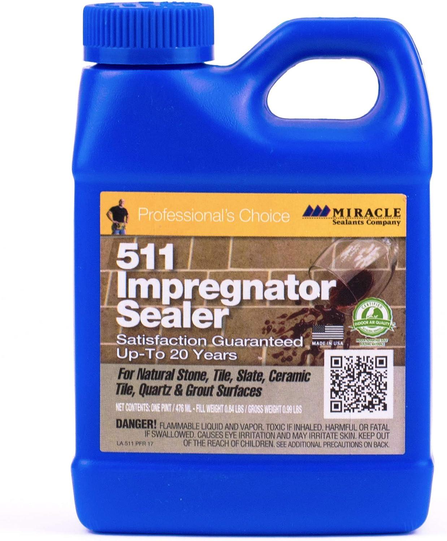 Miracle Sealants 511 PT SG Impregnator Sealer for Stone, Tile, Slate, Ceramic, Quartz 16 oz Pint