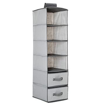 Delta Children 6 Shelf Hanging Wall Storage with 2 Drawers Dove Grey  sc 1 st  Amazon.com & Amazon.com : Delta Children 6 Shelf Hanging Wall Storage with 2 ...