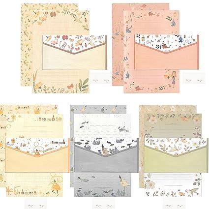 Amazon Com 20 Pcs Lined Kawaii Cartoon Animal Writing Stationery