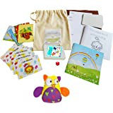 Little Bag of Cards and Therapeutic Games from Story Therapy®: 15cm Natural cotton drawstring bag containing (1) 32 share and talk cards: eight designs, four of each. Also suitable for general card games. (2) Ten photocopiable problem solving cards/activity, (3) Six affirmation cards, (4) 12cm square 8 page stapled colouring booklet,(5) 12cm square 8 page stapled Little Book of Calm booklet, (5) one dice. (6) One CE labelled 8x11cm Awesome Owl soft toy, colour varies. (7) Six blank cards.