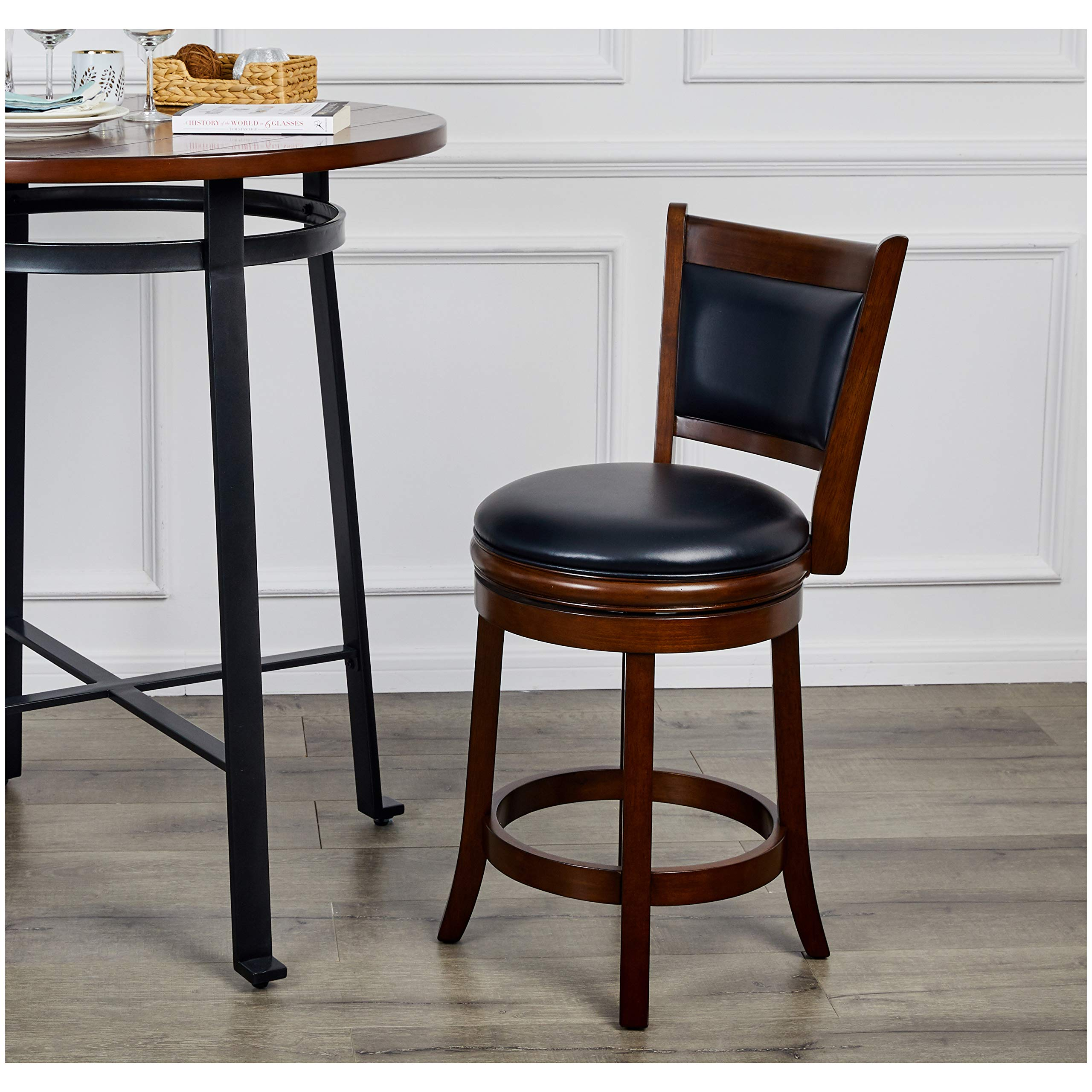 Ball & Cast HSA-1102B-2 Stool, 24'', Cappuccino by Ball & Cast (Image #2)