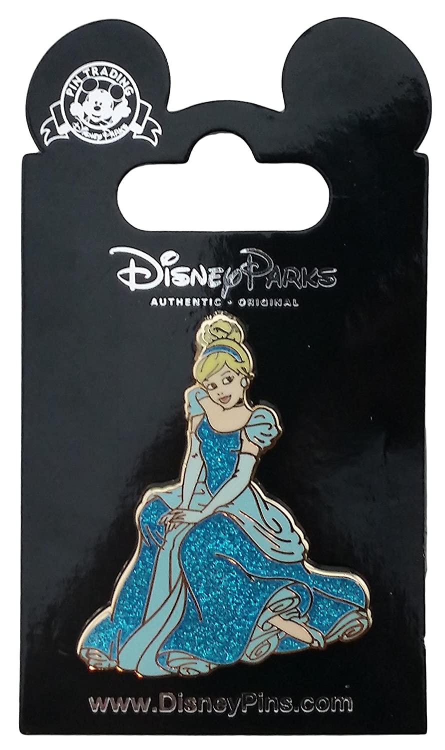 Disney Pin - Sitting Glitter Princess Cinderella