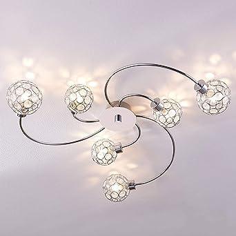 TYCOLIT LED Deckenleuchte IP21 Moderne Deckenleuchte f/ür Gang Energieklasse A++ 6000K Kaltwei/ß 18W 2400 lm 220V 3 Flammig Lampen Wellenf/örmige Deckenlampe Esszimmer Wohnzimmer
