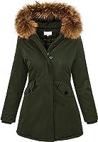 Damen Echtfell Winter Jacke Parka Kapuze Designer Damenjacke Outdoor D-204 XS-XL