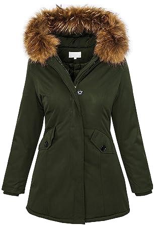 Winterjacke mit echtpelz kapuze damen