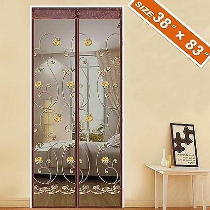 Superbe Spritech Embroider Flower Style Door Screen Magnetic,Magic Front Door Bug  Screen 38u0026quot;X
