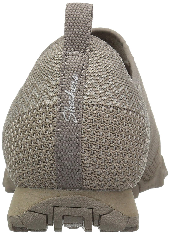 Skechers Women's Bikers-Knit Happens Sneaker B01NCK72KX 11 B(M) US|Taupe