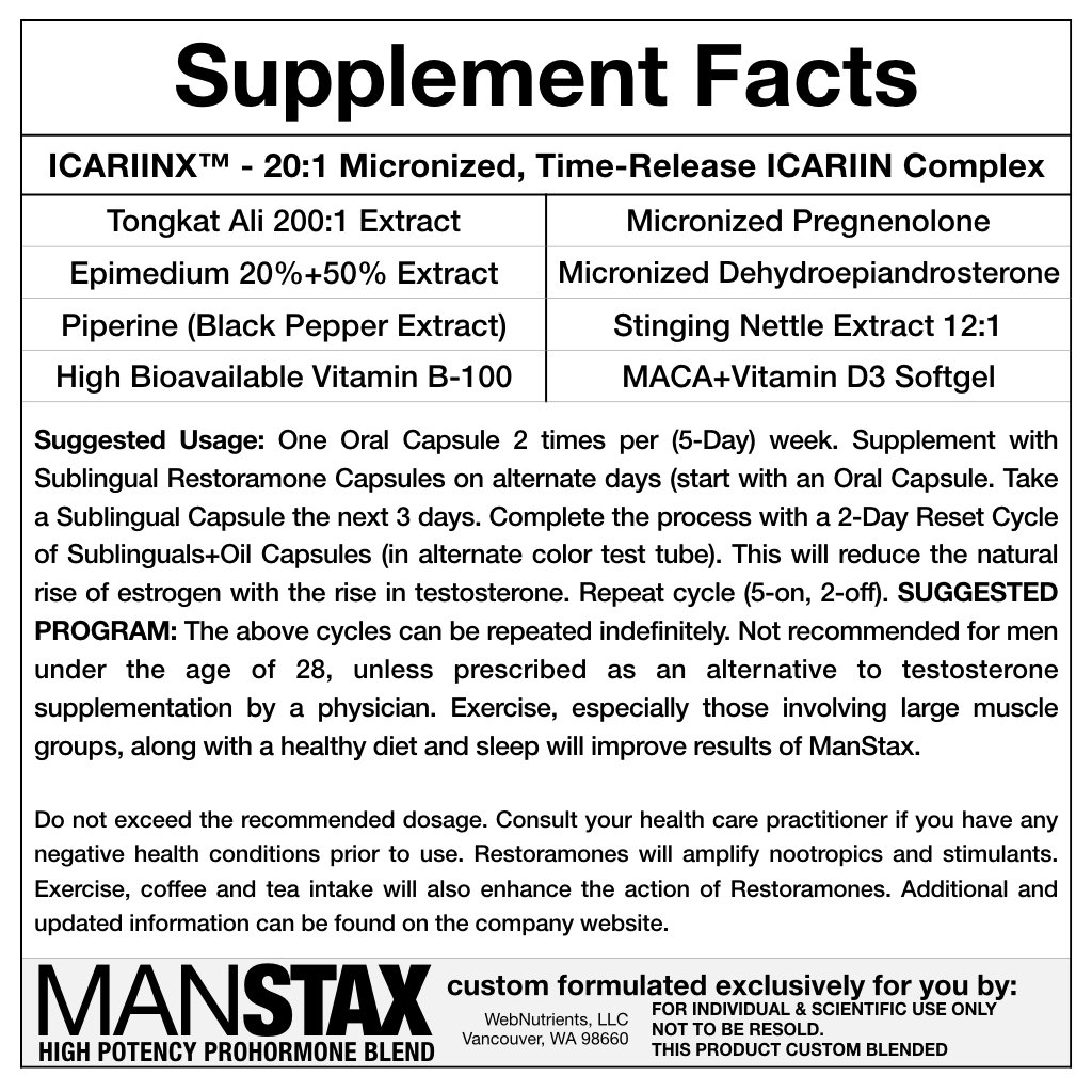 Amazon.com: WebNutrients ManStax+TM Testosterona avanzada ...