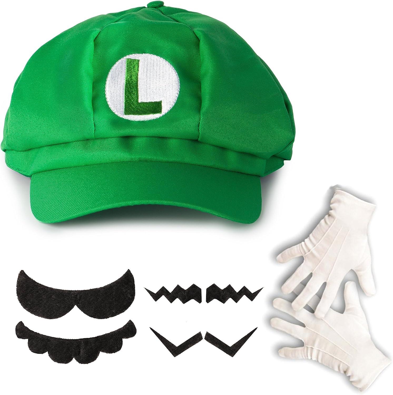 Katara- Juego de Disfraz Super Mario Bros-Gorra de Luigi, 4 ...