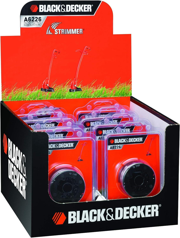 4PKS Spool and Line Bump Feed Fits Black and Decker GL250 GL310 GL360 GLC500 Strimmers A6226