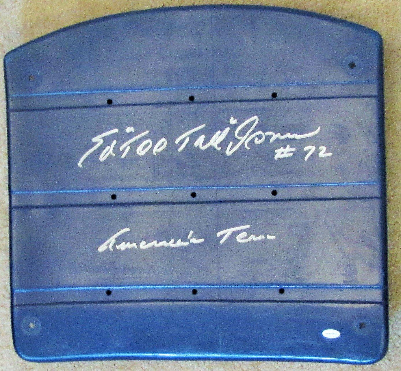 Ed 'Too Tall' Jones Signed Dallas Cowboys Texas Stadium Seat with 'America's Team' Inscription