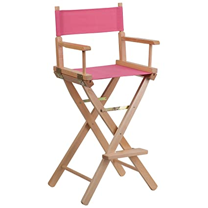 amazon com flash furniture bar height directors chair in pink