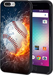 iPhone 7 Plus Case,iPhone 8 Plus Case,BWOOLL Burning Baseball Fire and Water TPU Protective Cover for Apple iPhone 7 Plus/iPhone 8 Plus - 5.5 inch