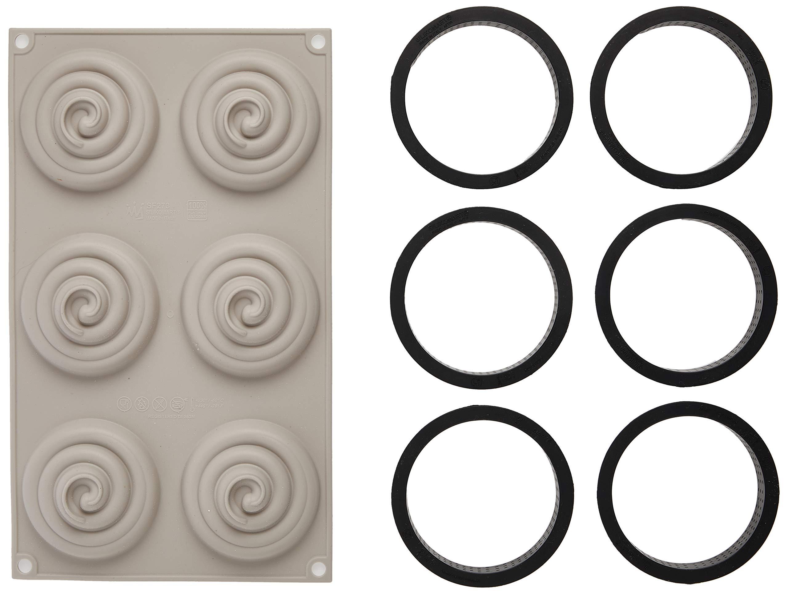 100% Platinum Silicone - 3D Mould -Kit Mini Tarte Twist by Silikomart (Image #3)