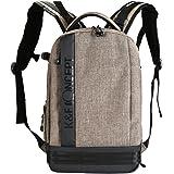 "K&F Concept Camera Backpack Bag Waterproof Nylon Multipurpose Bag for Canon Nikon Fuji and Other Cameras Laptop Ipad - Light Grey(17.32*6.30*11.42"")"