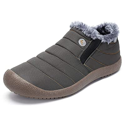 Eagsouni Womens Mens Snow Boots Winter Shoes Slip On Ankle Booties Anti-Slip Water Resistant Fully Fur Lined Outdoor Sneakers | Snow Boots